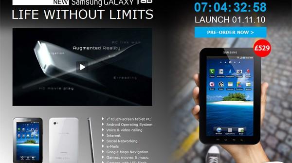 Samsung Galaxy Tab Countdown